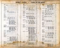Street Index 1, Belmont Assessor Plans 1931